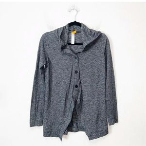 Lucy Gray Three Button Hooded Cardigan